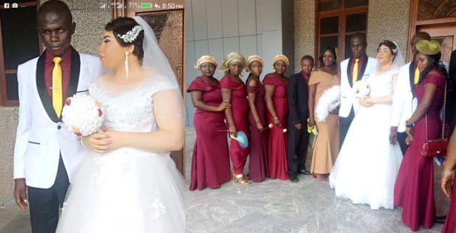 A beautiful Lady walks down the aisle with her blind fiancé in Nasarawa State (photos)
