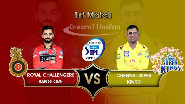 IPL 2019 CSK vs RCB Dream11 tips & Playing XI