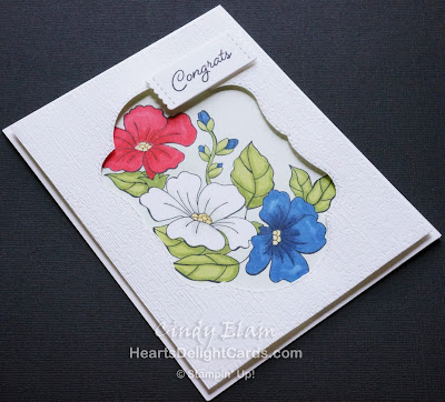 Heart's Delight Cards, Blended Seasons, Stampin' Blends, Congrats, Stampin' Up!,