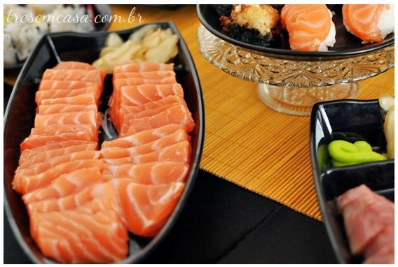 como fazer sashimi de salmão