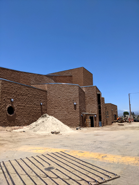 A photo that I took of the new Performing Arts Center currently under construction at Bishop Amat Memorial High School...on June 9, 2021.