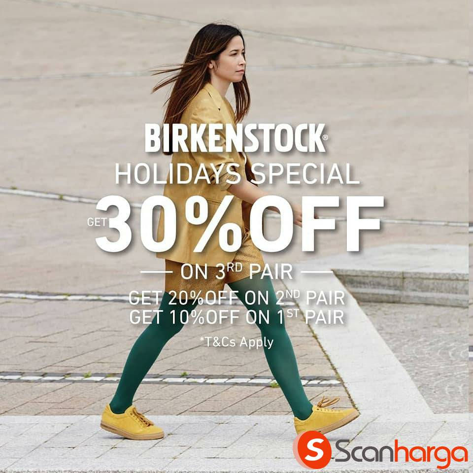 Birkenstock Holiday Special Promo Buy 3 Get 30% Off & Other Discounts