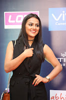 Actress Shraddha Srinath Stills in Black Short Dress at SIIMA Short Film Awards 2017 .COM 0021.JPG