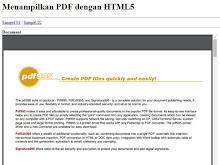 Contoh Kode Menampilkan PDF Di Web