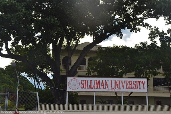 Silliman University along Rizal Boulevard