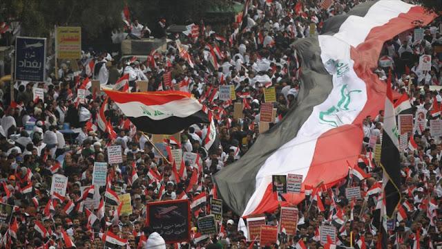 Irak celebra segunda gran marcha de su historia contra ocupación