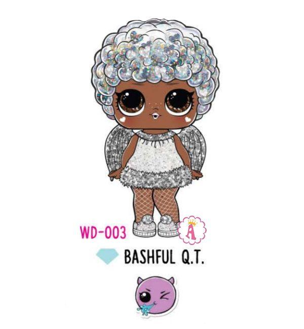 Bashful Q.T. WD-003 снежный ангел Лол Сюрприз Glitter Globe Winter Disco
