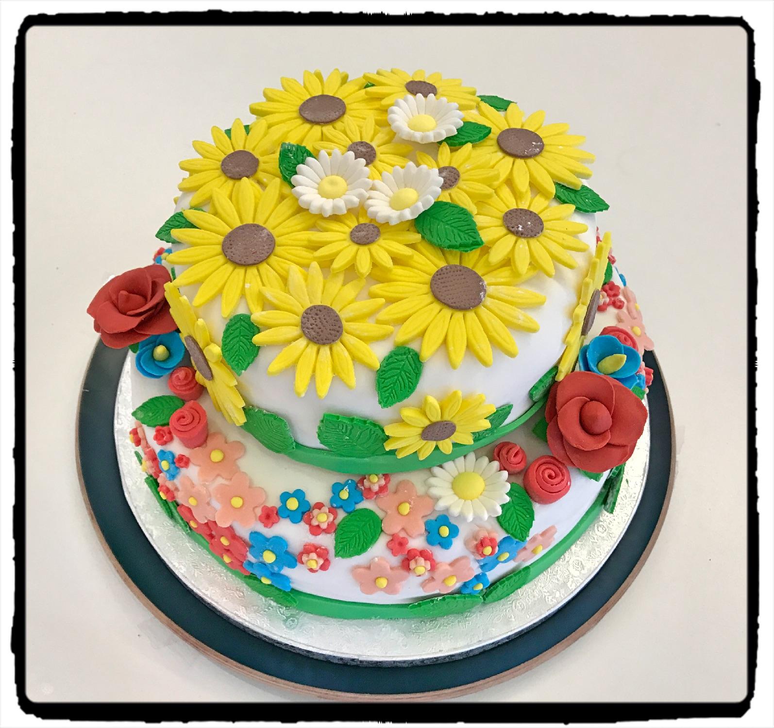 Cake Design Prato : Cucinando con Ele: Cake Decorating - Torta Prato Fiorito