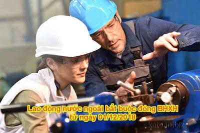 Từ 01/12/2018, chính thức đóng BHXH bắt buộc người lao động nước ngoài
