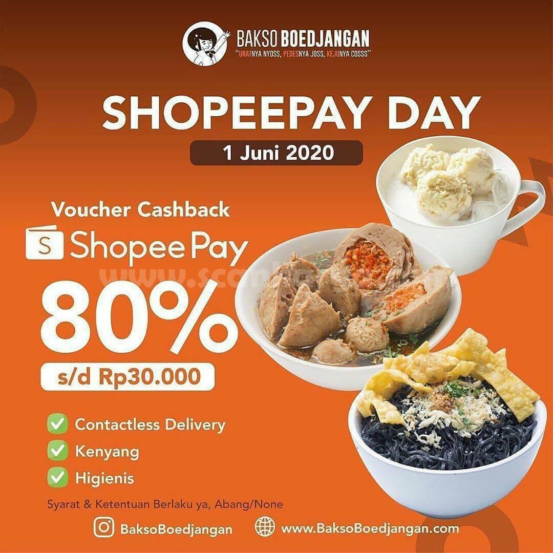 Promo Warunk Upnormal ShoppePay Day Voucher Cashback 80%