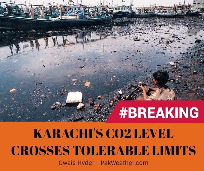 Karachi's Co2 Level crosses tolerable limits