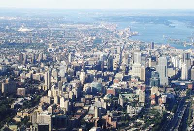 imagem aérea de Montreal – Canadá