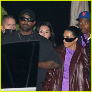 Kim Kardashian and  Kanye West spotted as they go on dinner date with friends (photos)