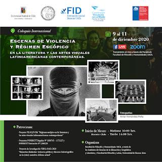 Mesas Coloquio: Escenas de violencia y régimen escópico en la literatura y las artes visuales latinoamericanas contemporáneas