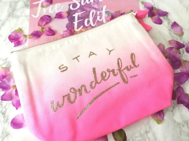 Alphabet Bags Stay Wonderful Ombre Makeup Bag