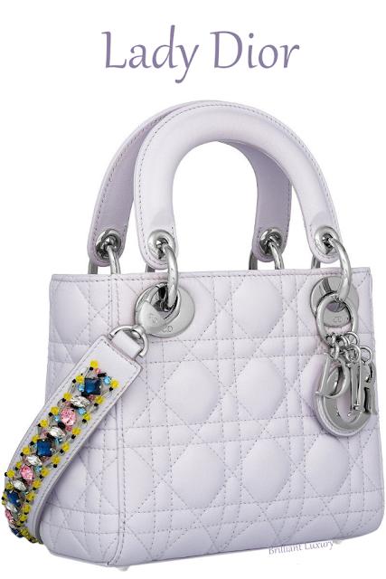 Mini opaline white Lady Dior lambskin bag #brilliantluxury