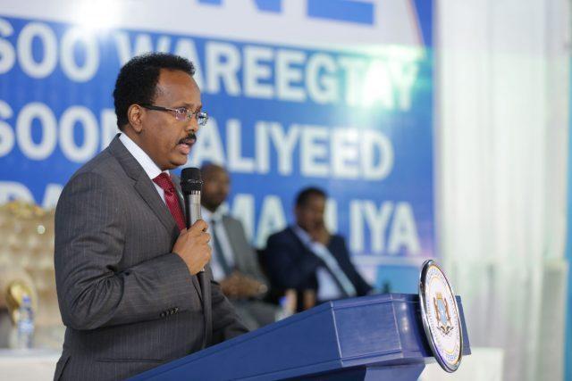 الرئيس الصومالي محمدعبدالله فرماجو  يهنئ فوز قيس سعيد في الرئاسة التونسية