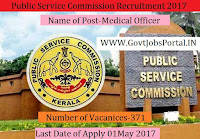 Public Service Commission Recruitment 2017– 371 Medical Officer