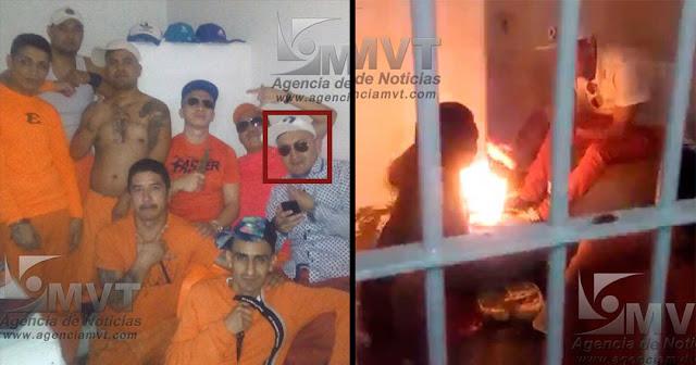 """Le dicen """"El Tatos"""" es el que aparece en los videos amenazando, quemando y torturando a reos en penal"""