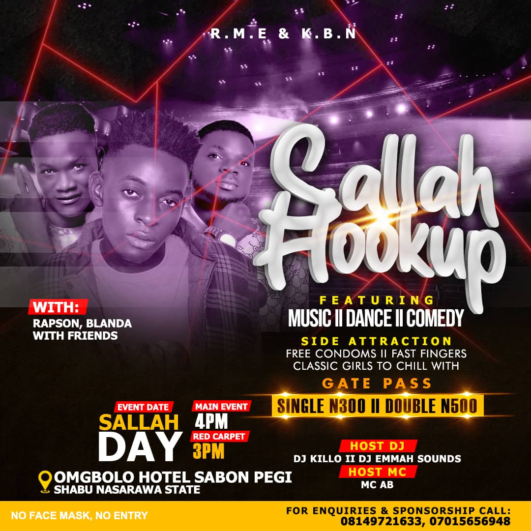 [Event]: Sallah Hookup with Rapson , Blanda and Friends #Arewapublisize