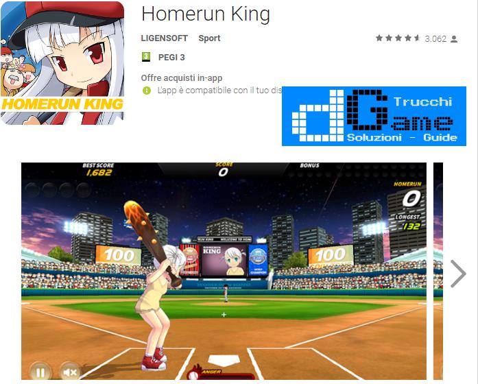 Trucchi Homerun King Mod Apk Android v1.4