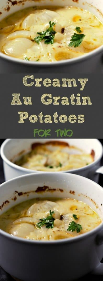 Creamy Au Gratin Potatoes Recipe for Two