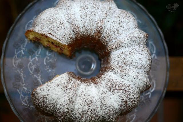 Bundt cake con arándanos rojos 03