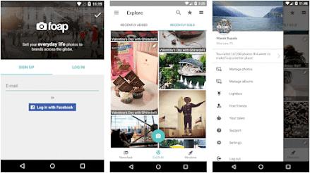 Aplikasi upload foto dapat uang - Foap