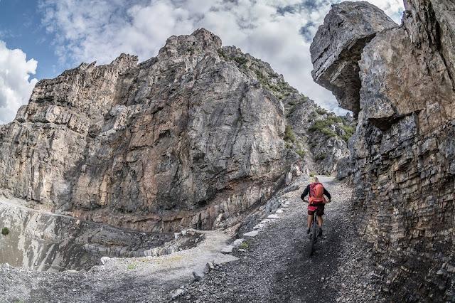 Auffahrt Mountainbike Bormio Monte delle Scale Croce