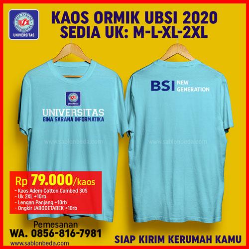 kaos ormik BSI 2020