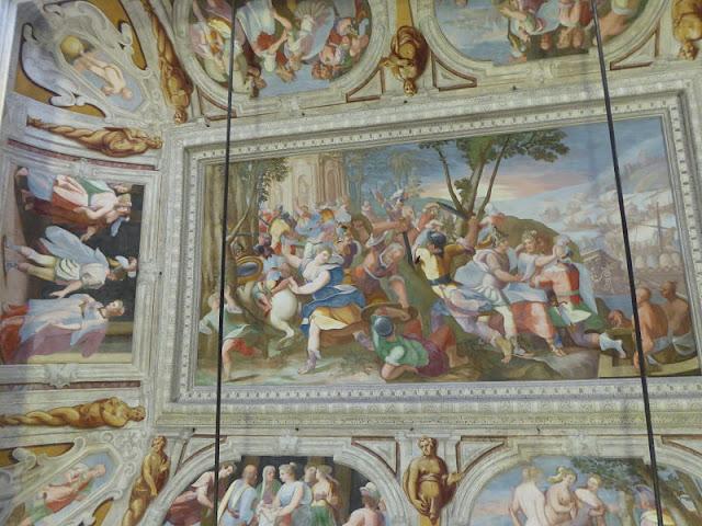 affreschi nel palazzo ambrogio di negro
