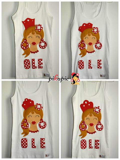 Camiseta flamenca Ole Pikapic