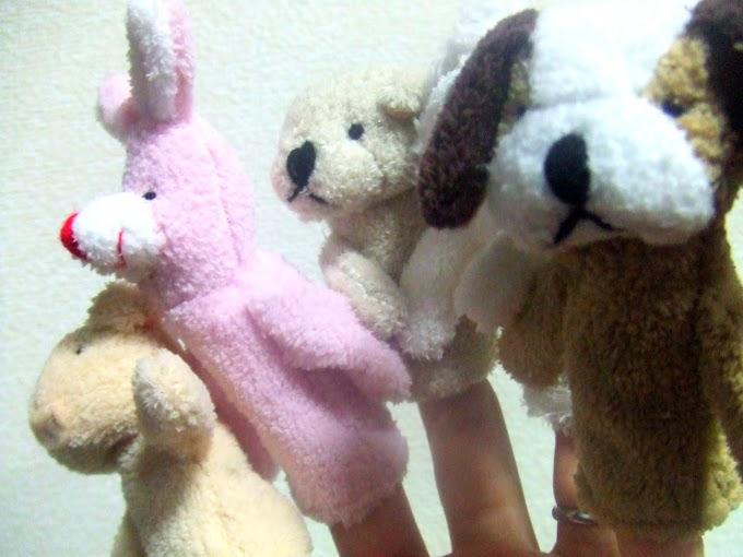027 #ウサギ #イヌ #ブタ #クマ #指人形