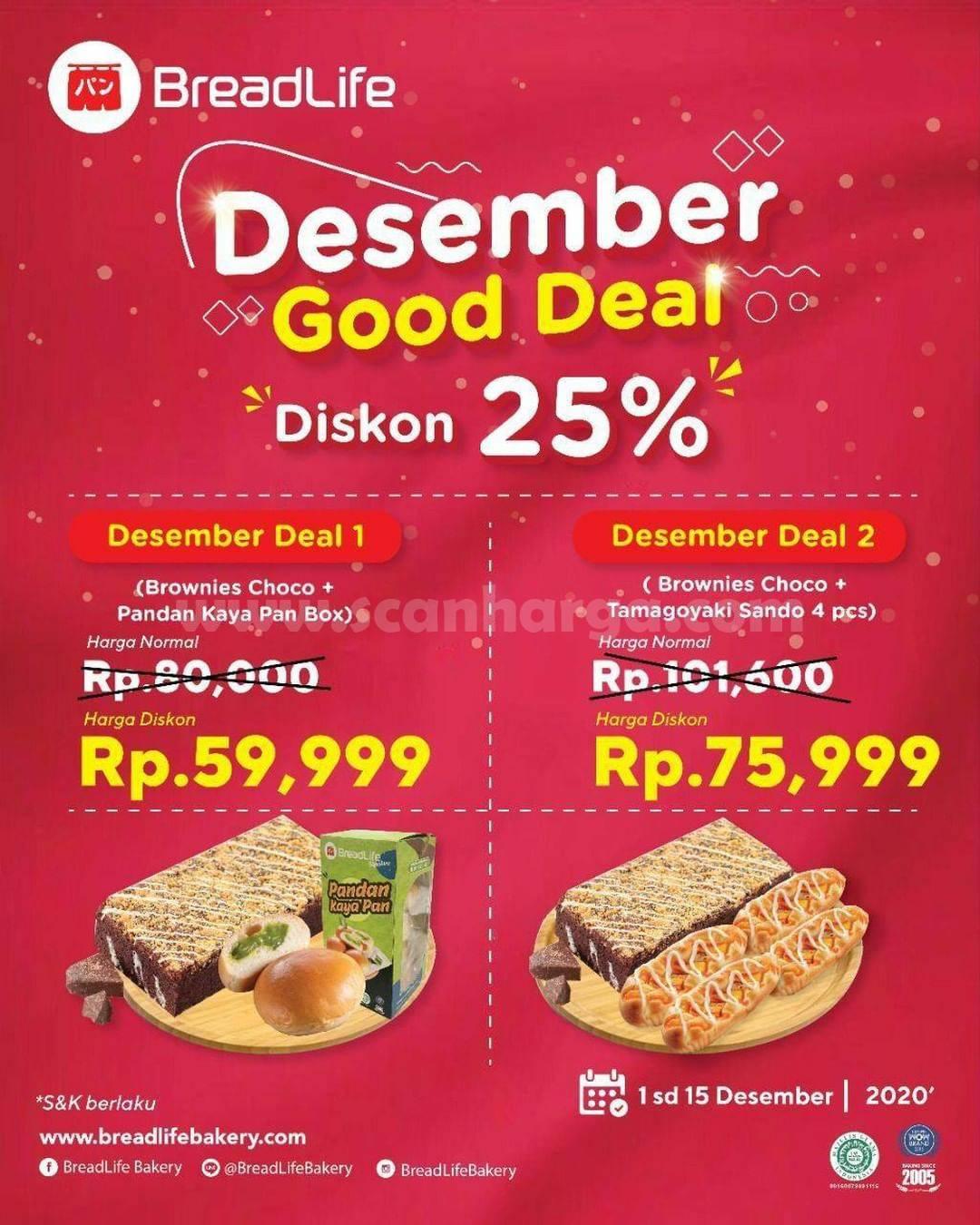Breadlife Desember Good Deal - Diskon Aneka Roti Hemat hingga 25%