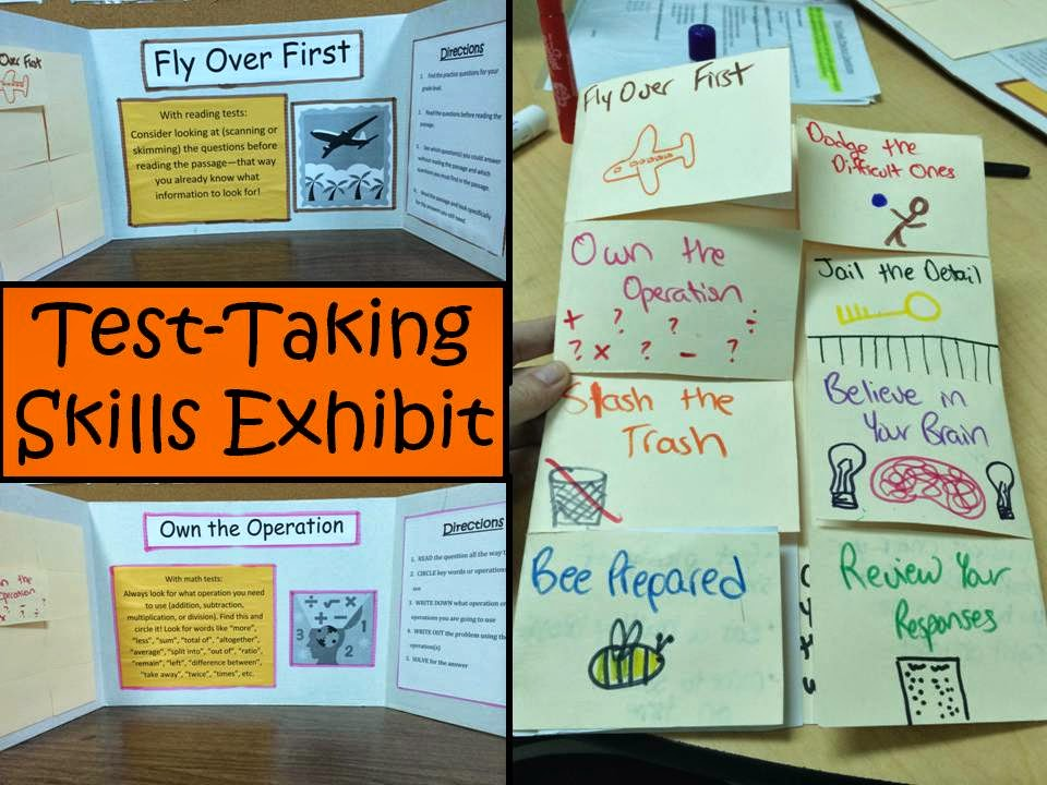 Teacher made test taking skills activity centers