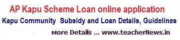 AP Kapu Scheme Loan online application