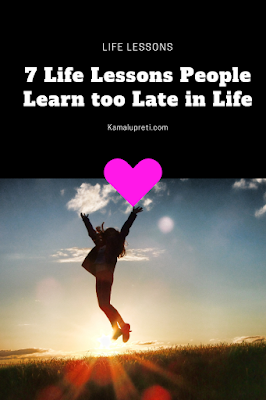 lessons learned too late in life