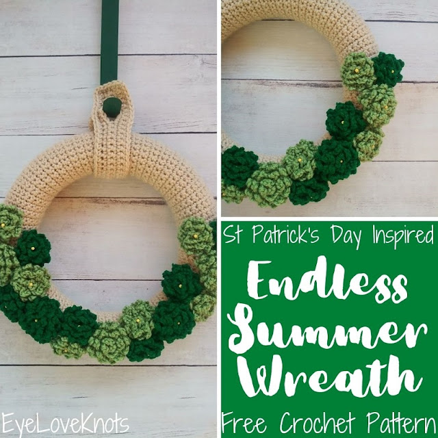 St Patrick's day inspired wreath