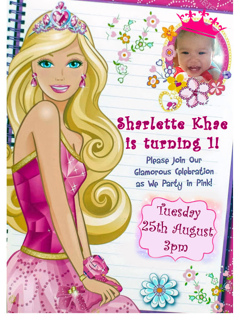 DIY Barbie Invitation