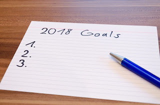 photo of a list of goals for 2018