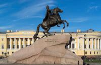Estatua de Pedro I en San Petersburgo
