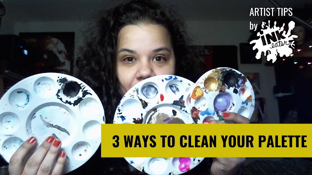 How to Clean Painting Palette 3 Ways - Artist Hack