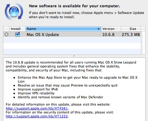 Download Mac OS X 10.6.8 Latest Updates [Direct Links]