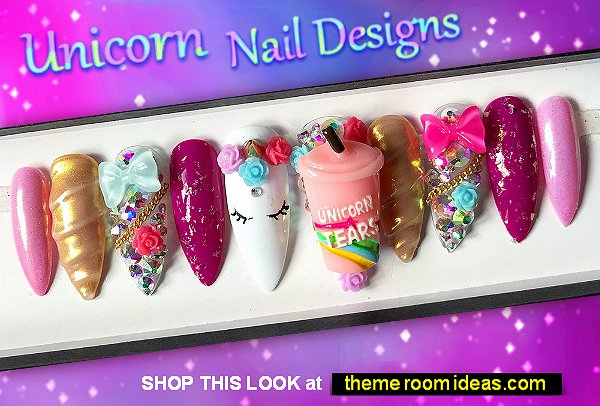Unicorn Luxe false nails unicorns