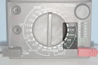 analog ohmmeter reading