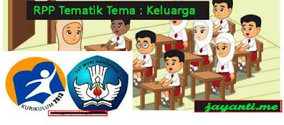 RPP Tematik Tema : Keluarga Kelas 1 Semester 1