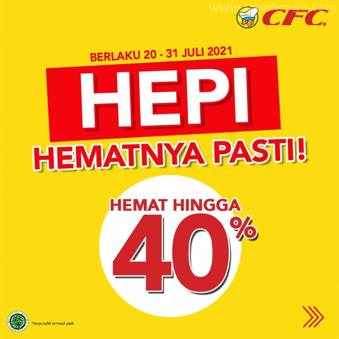 CFC Promo PAKET HEPI Diskon hingga 40% + Beli 2 Gratis 4
