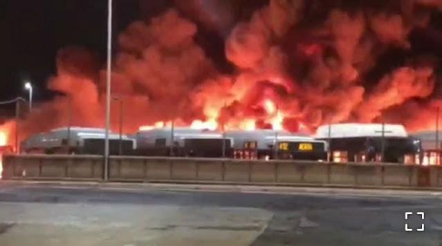 Atac, incendio al deposito di Tor Sapienza. Nessun problema per le persone