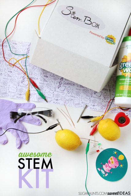 Lemon STEM Science experiment ideas for kids