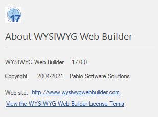 WYSIWYG Web Builder 17.0.0
